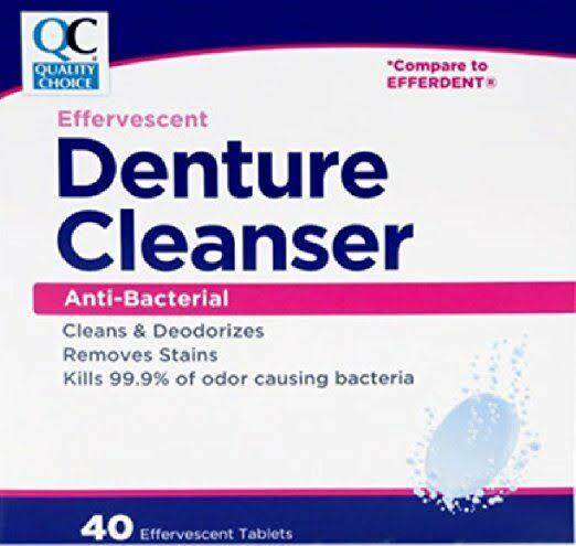 Quality Choice QC Denture Tablets (efferdent) 40TB