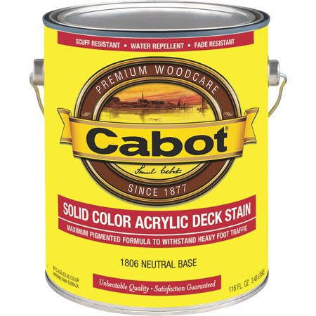 Cabot Solid Color Decking Stain - 1 gal