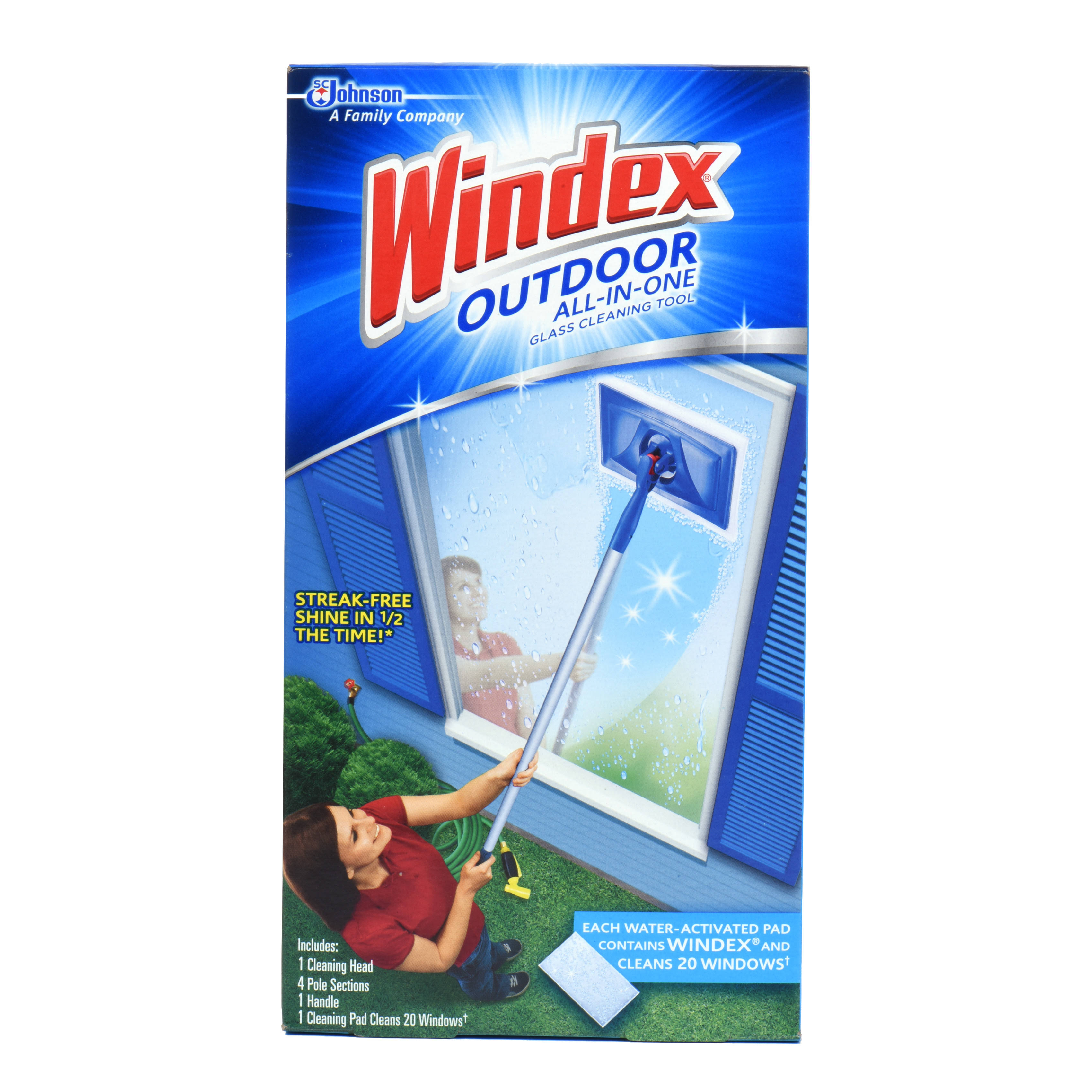 Windex Outdoor All-In-One Glass Cleaning Tool Kit