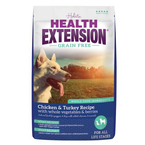 Health Extension Grain Free Dog Food - Chicken and Turkey, 1lb