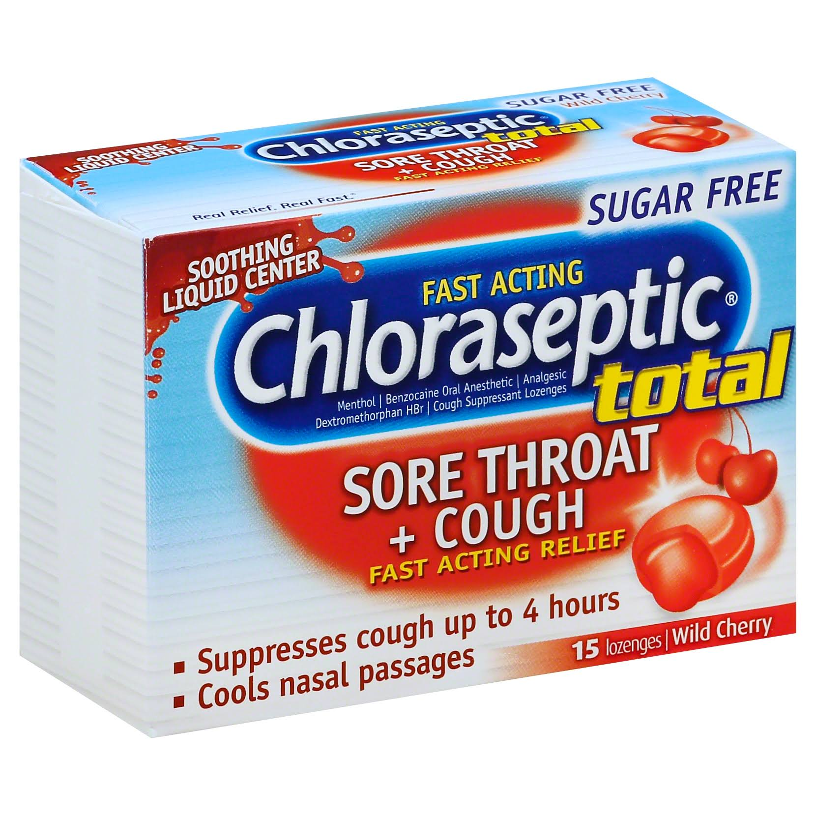 Chloraseptic Total Multi Symptom Relief Lozenges - Wild Cherry, 15ct