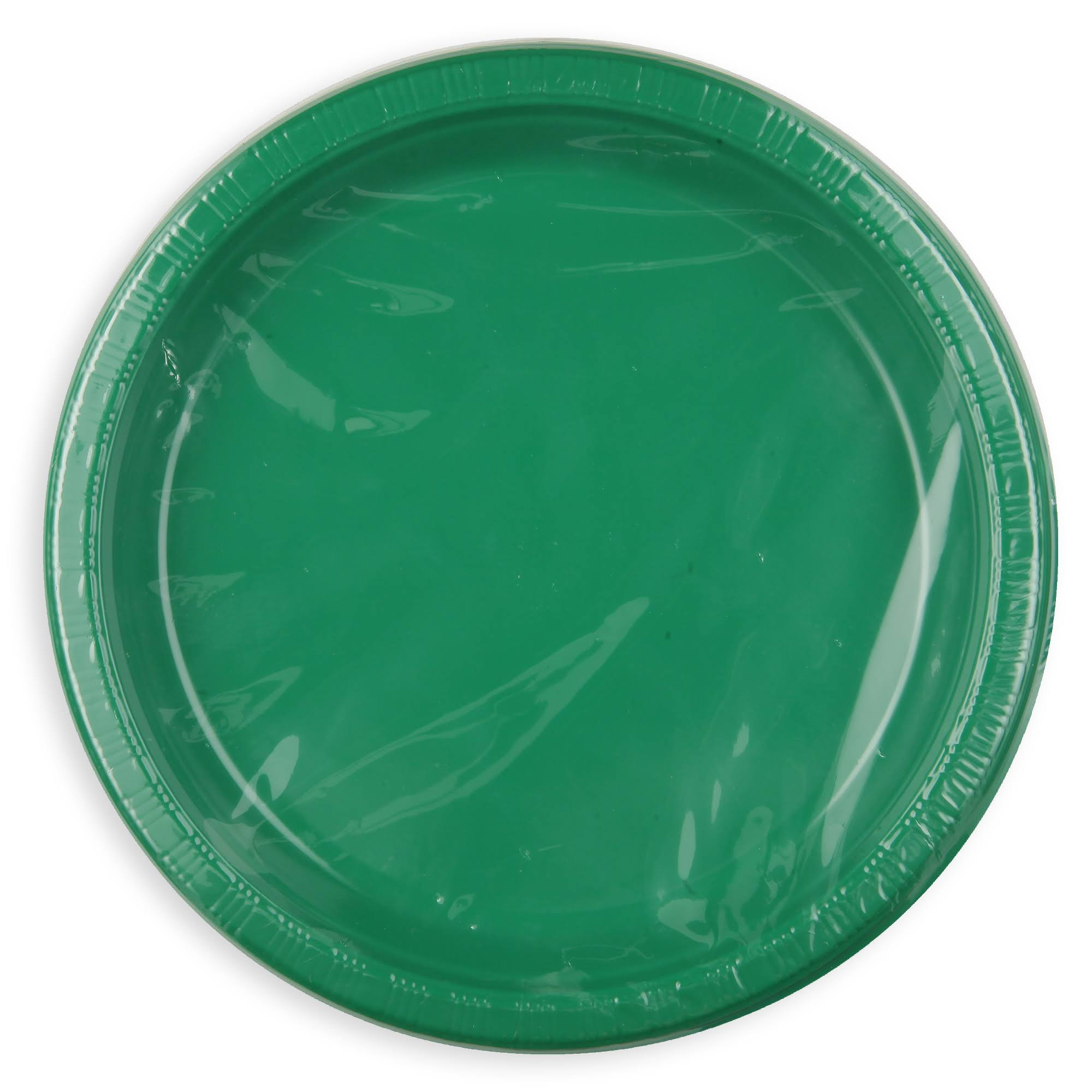 Creative Converting Touch of Color Plastic Lunch Plates - Emerald Green, 20ct