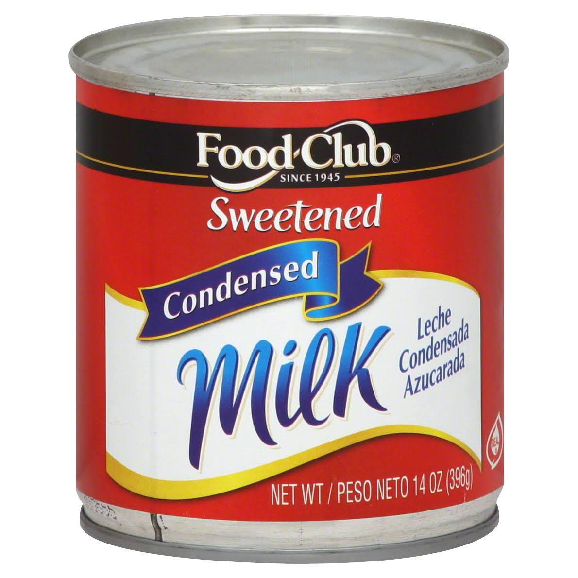 Food Club Condensed Milk, Sweetened - 14 oz