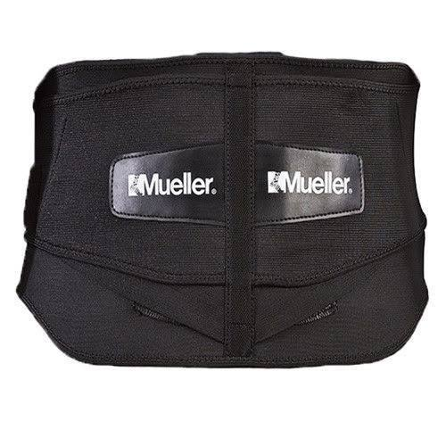 "Mueller Lumbar Support Back Brace with Removable Pad - 50"" to 70"" Waist, Black"
