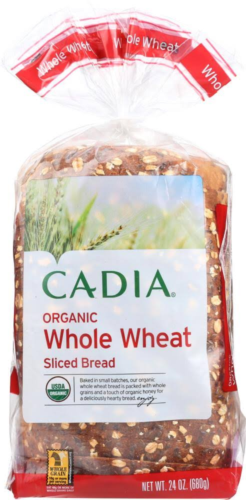 CADIA: Organic Whole Wheat Sliced Bread, 24 oz