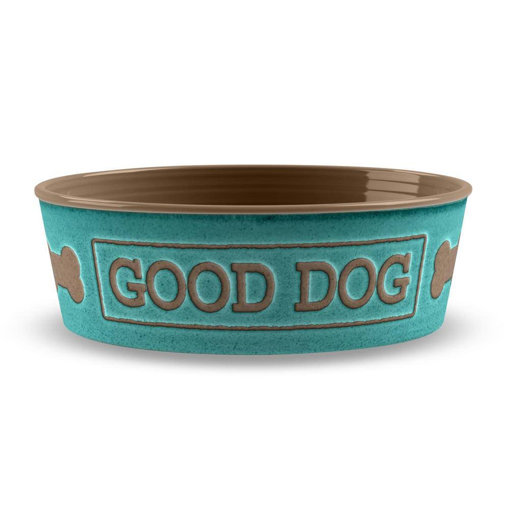 Tarhong Good Dog Pet Bowl Medium / Teal
