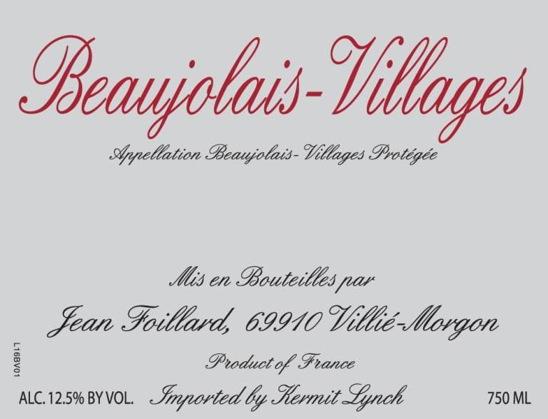Jean Foillard Beaujolais-Villages