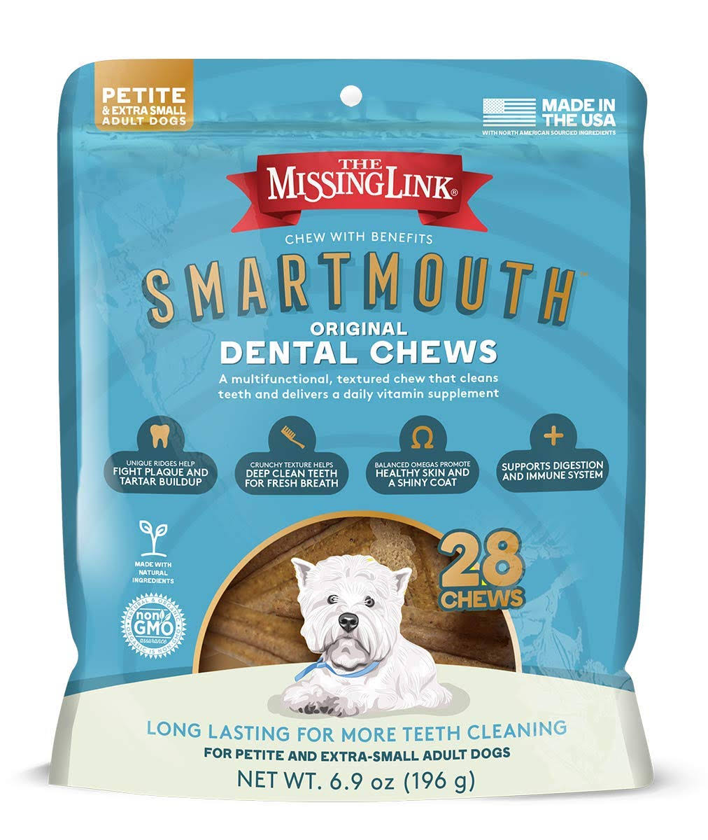 28 Counts Smartmouth Dental Chews for Petite /Extra Small Dogs