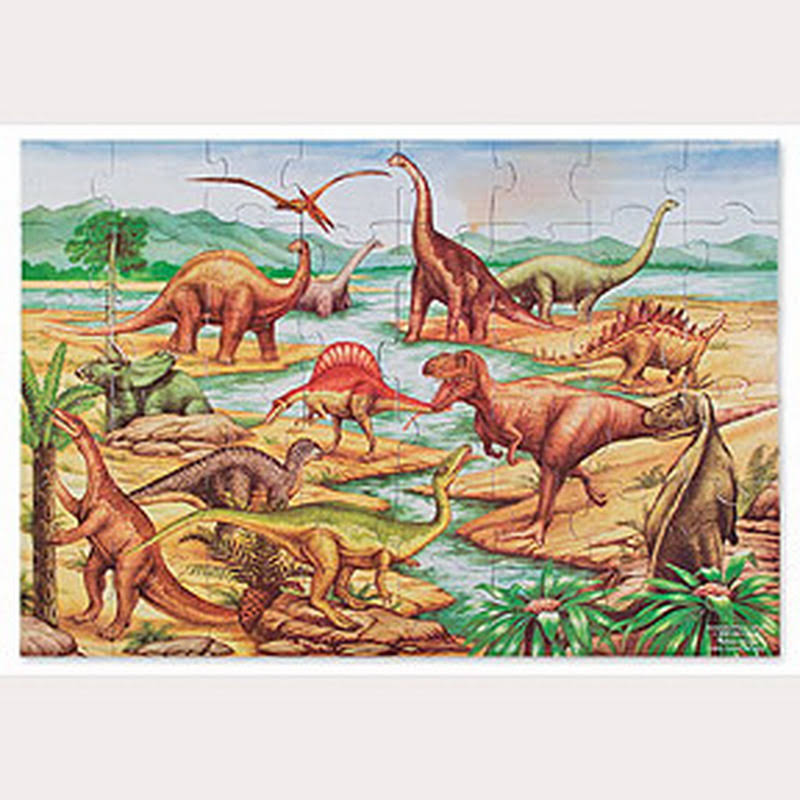 Melissa and Doug Dinosaurs Floor Puzzle - 48pcs