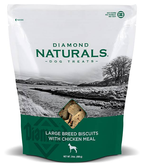 Diamond Naturals Large Breed Biscuits Chicken Meal Dog Treats, 24-oz