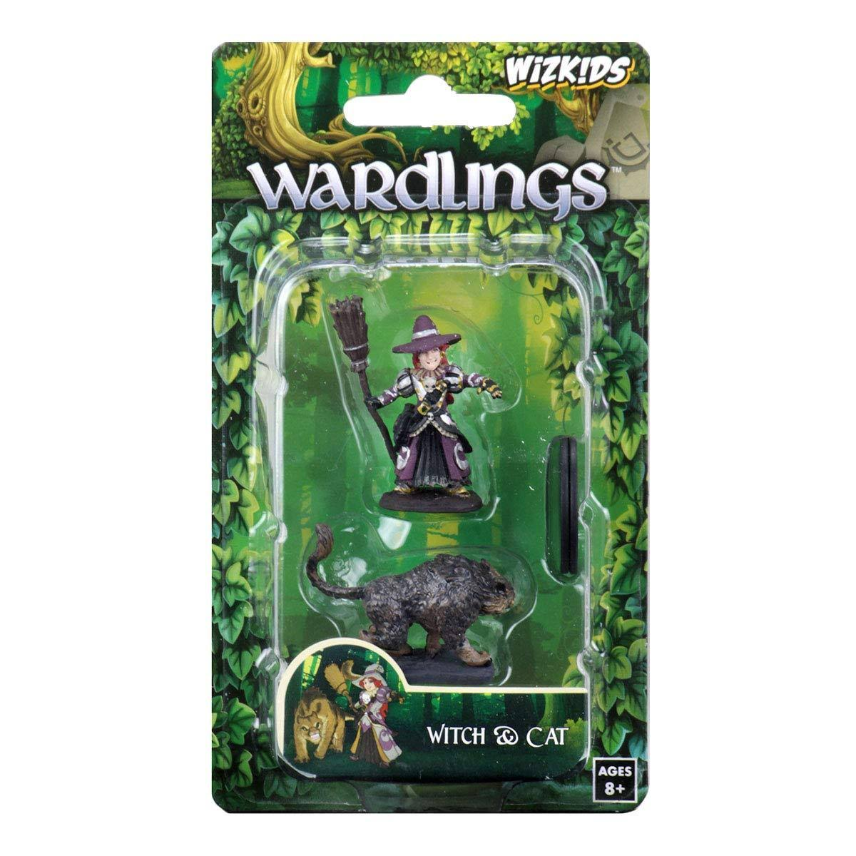 Wardlings Girl Witch & Witch's Cat WizKids Miniature
