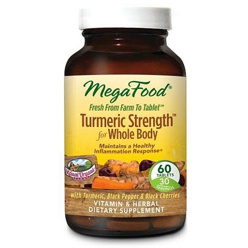 MegaFood Turmeric Strength for Whole Body Dietary Supplement - 60 Tablets