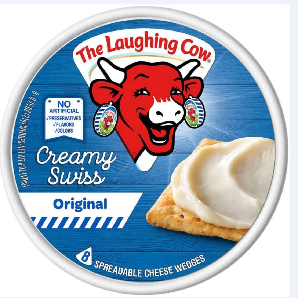 The Laughing Cow Creamy Swiss Original Spreadable Cheese Wedges - 0.75oz, 8pcs