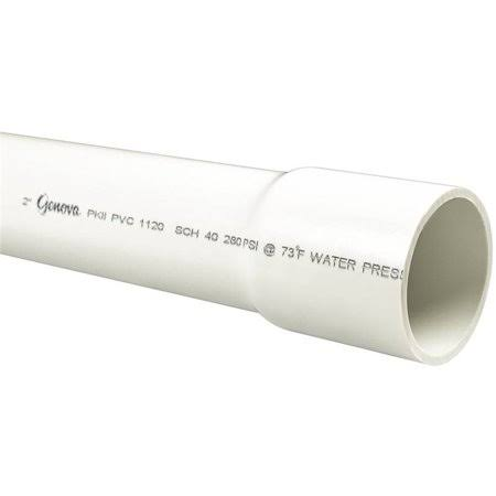 Genova PVC Cold Water Pressure Pipe - Schedule 40, 20'