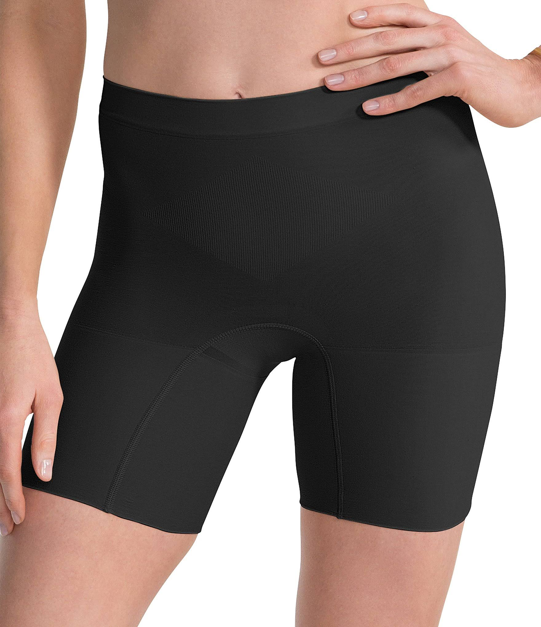 Spanx Womens Power Shorts - Black, 1X Plus, Medium