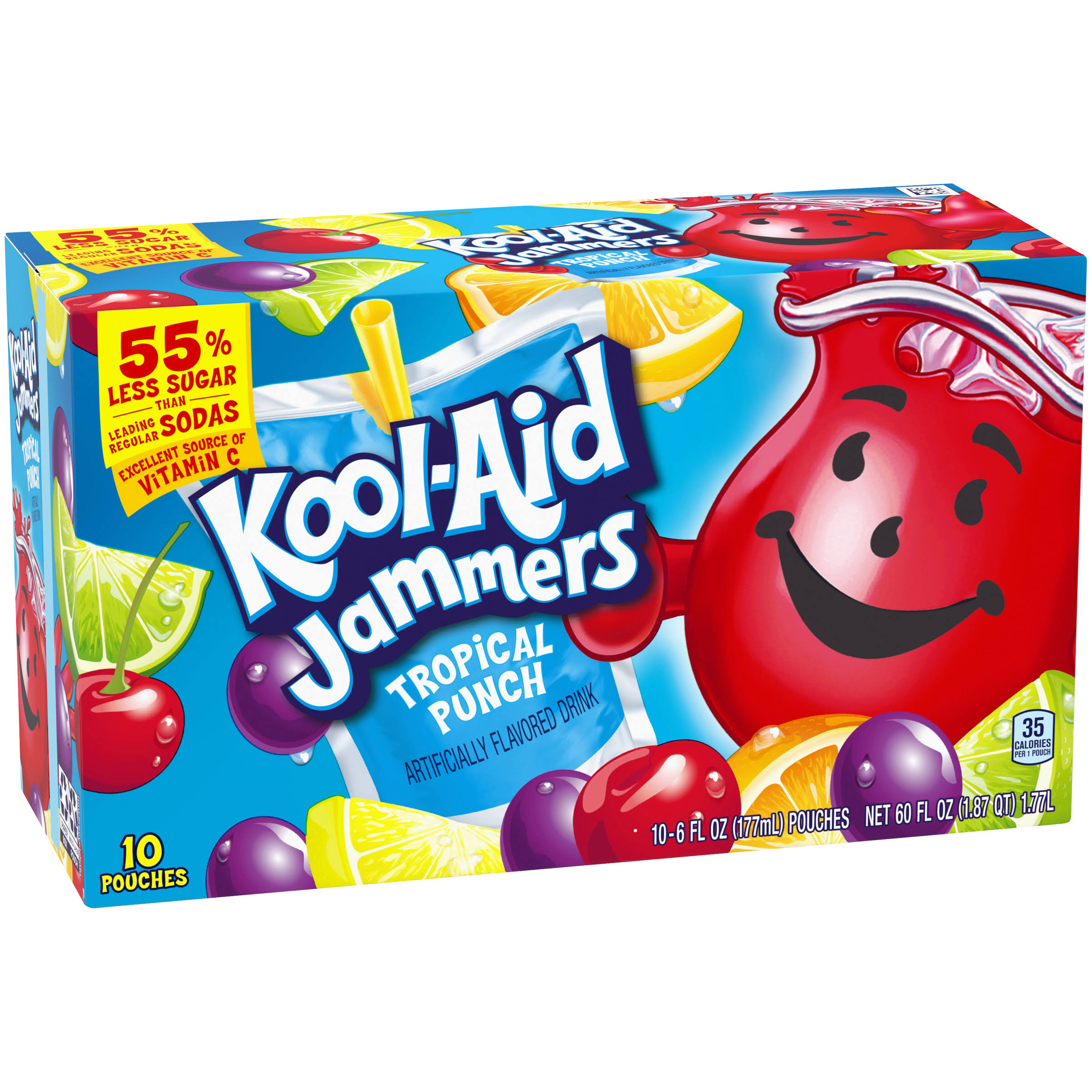 Kool-Aid Jammers Tropical Punch Artificially Flavored Drink - 6oz, 10pcs