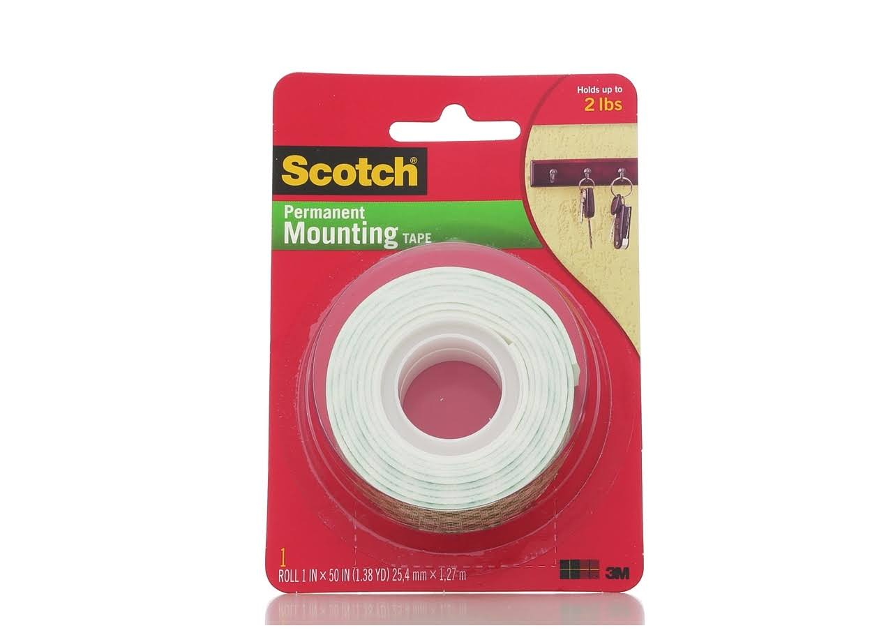 3M Scotch Indoor Mounting Tape - White