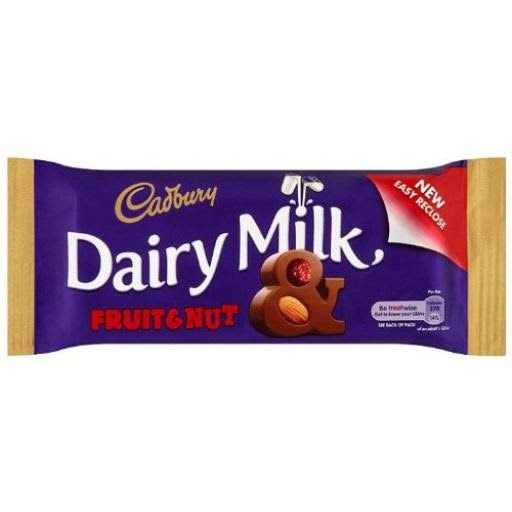 Cadbury Dairy Milk Chocolate Bar - Fruit And Nut