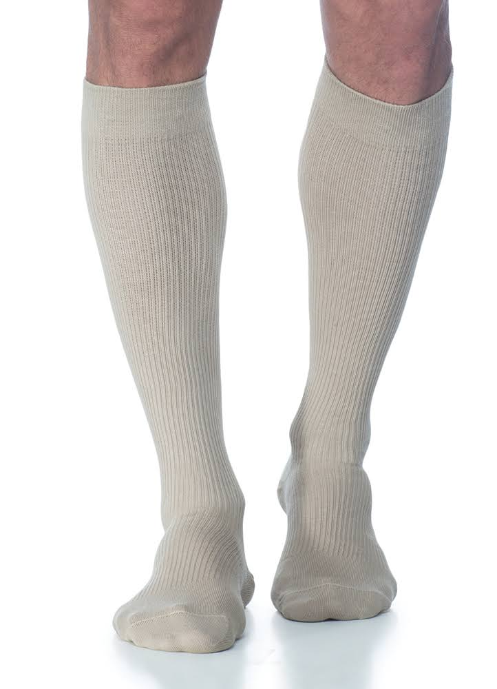 Sigvaris Men's Casual Cotton Compression Socks B / Brown