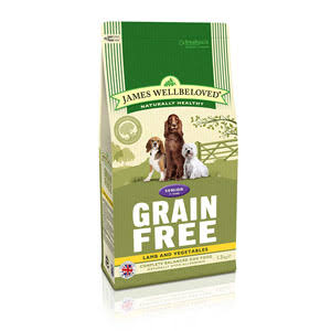 James Wellbeloved Grain Free Lamb & Vegetable Senior Dog Food - 1.5kg