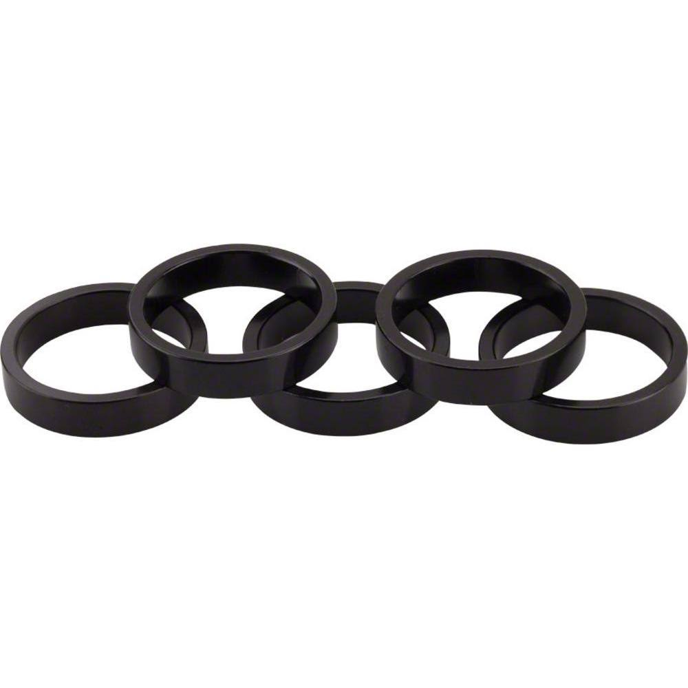 Wheels Manufacturing 1-1/8in Head Spacer - Black, 7.5mm, 5pcs