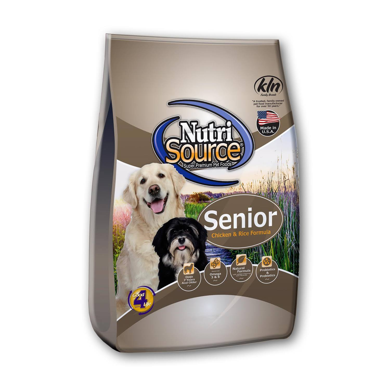 NutriSource Chicken and Rice Senior Dog Food 5 lb.