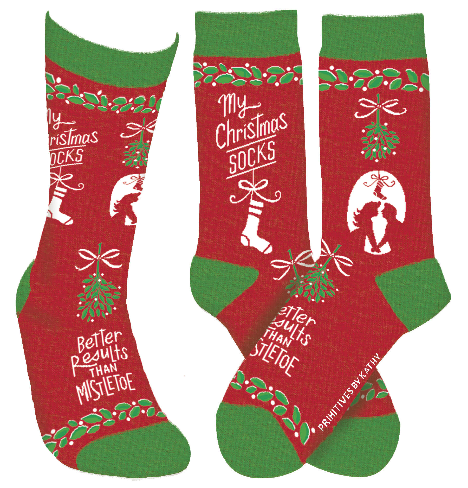 Primitives By Kathy My Christmas Socks - One Size