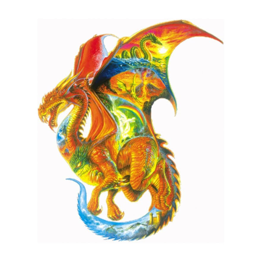 Sunsout Dragon Dreams Shaped Jigsaw Puzzle - 1000pcs