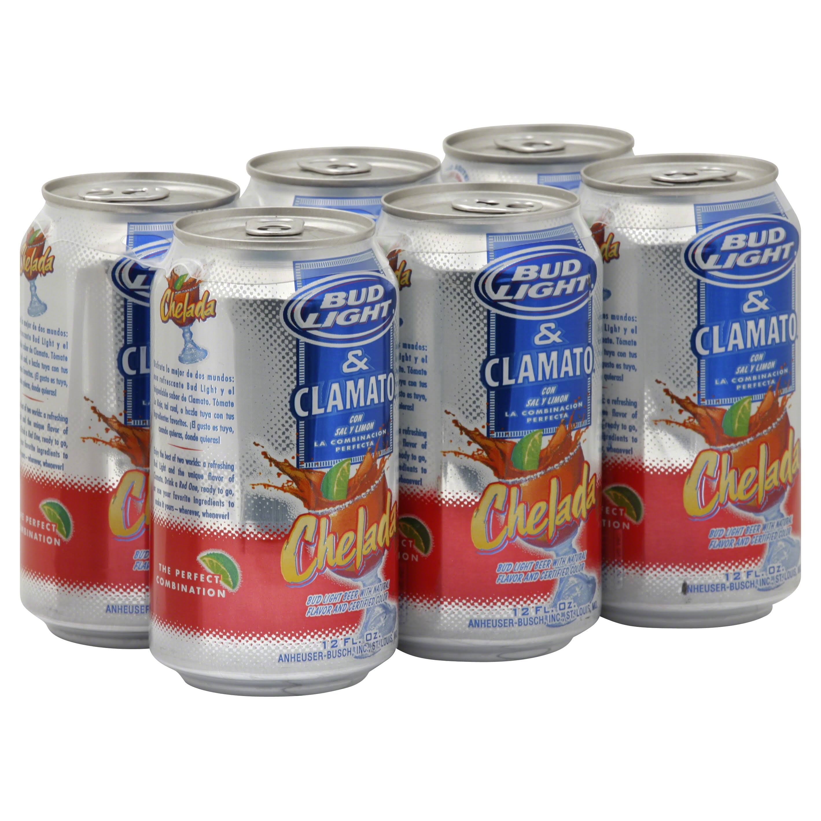 Bud Light & Clamato Chelada Beer - 6 Pack