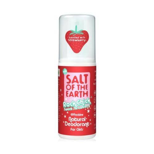 Salt of The Earth Rock Chick Sweet Natural Deodorant - Strawberry, 100ml