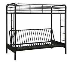 amazon com dorel home products twin over full futon bunk bed