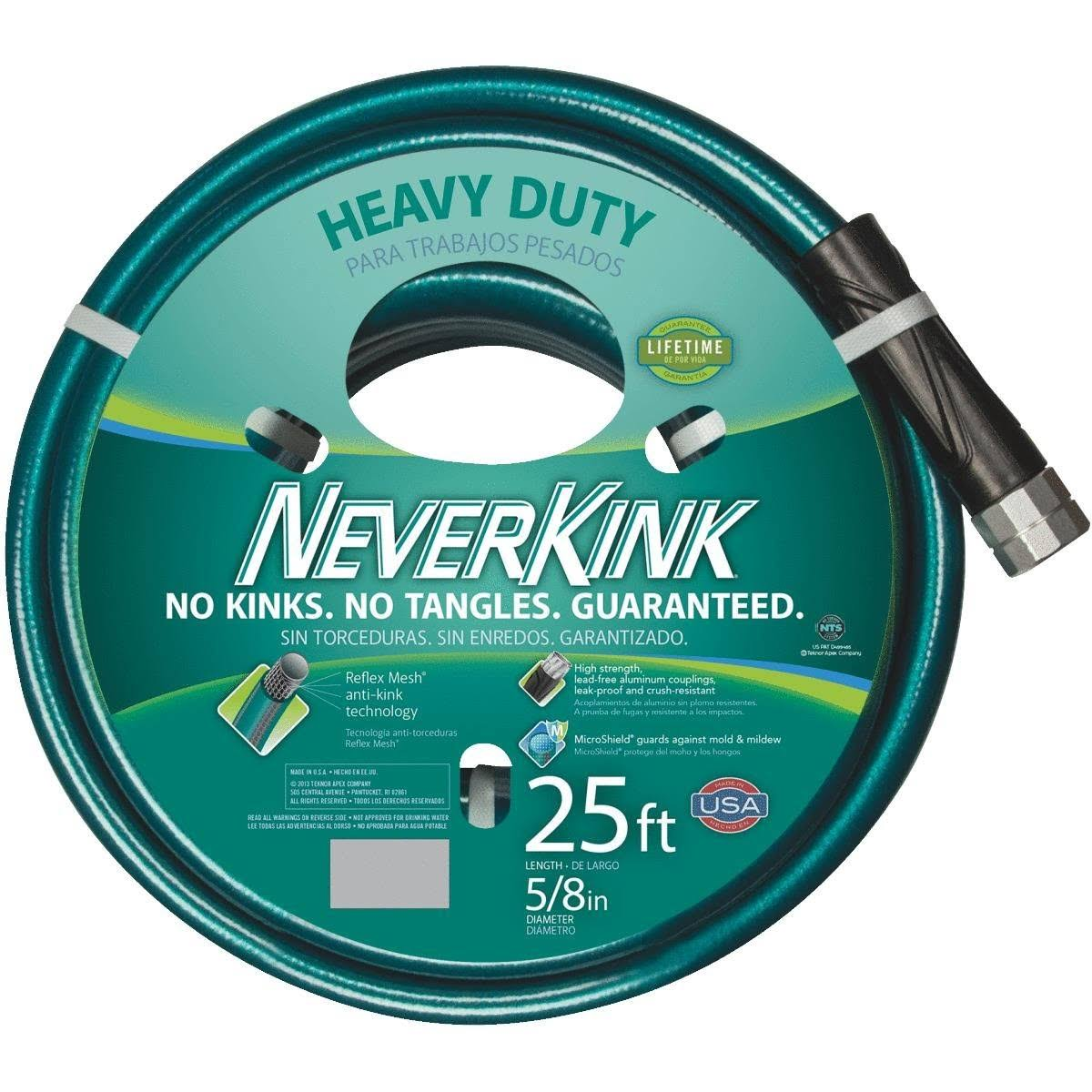 "Teknor Apex Never Kink Series 2000 Ultra Flexible Garden Hose - 5/8"" x 25'"