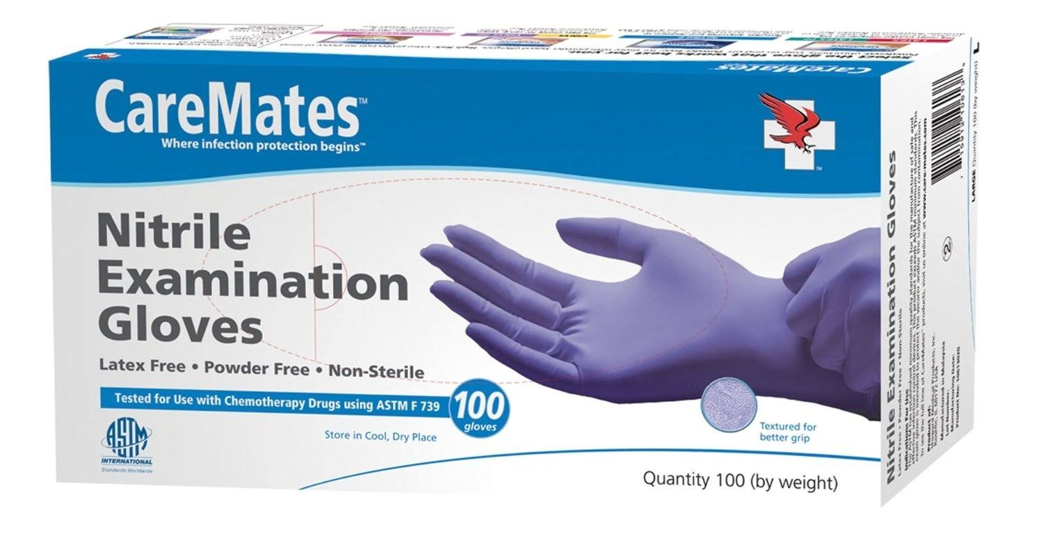 CareMates Nitrile Exam Gloves - Small, 100 Count
