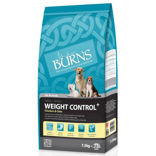 Burns Weight Control Dog Food - Chicken & Oats 7.5Kg