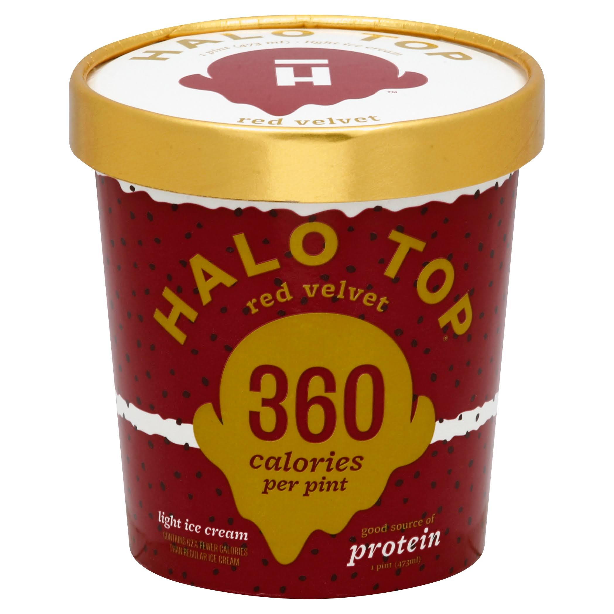 Halo Top Ice Cream, Light, Red Velvet - 1 pint