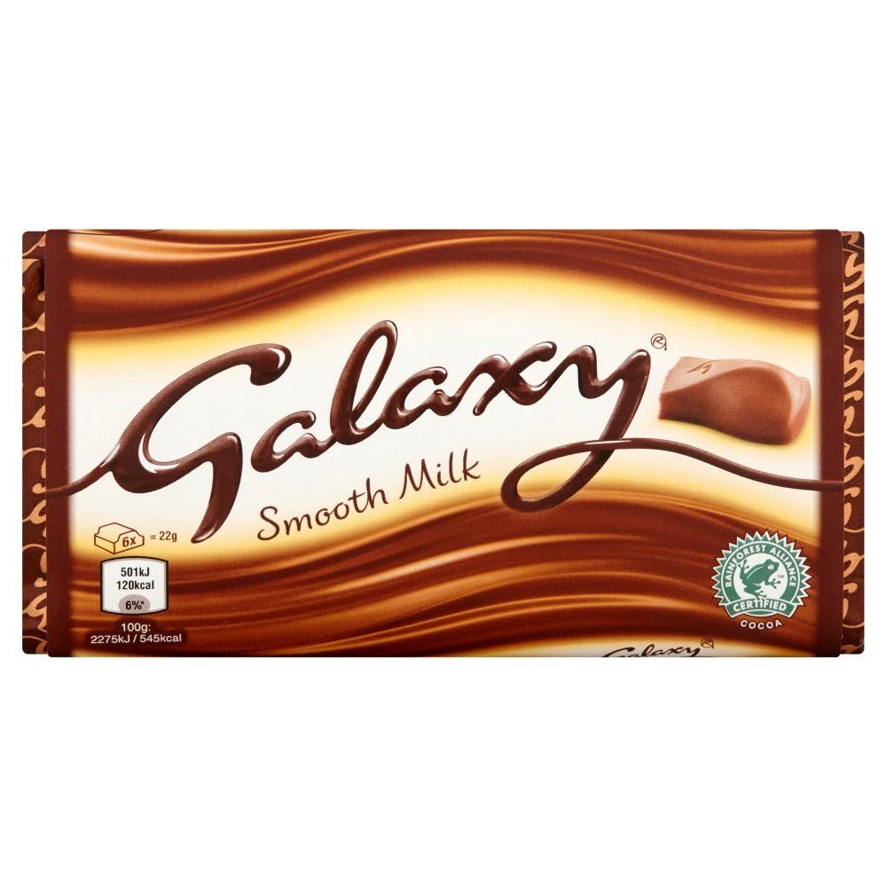 Galaxy Smooth Milk Chocolate Block - 110g
