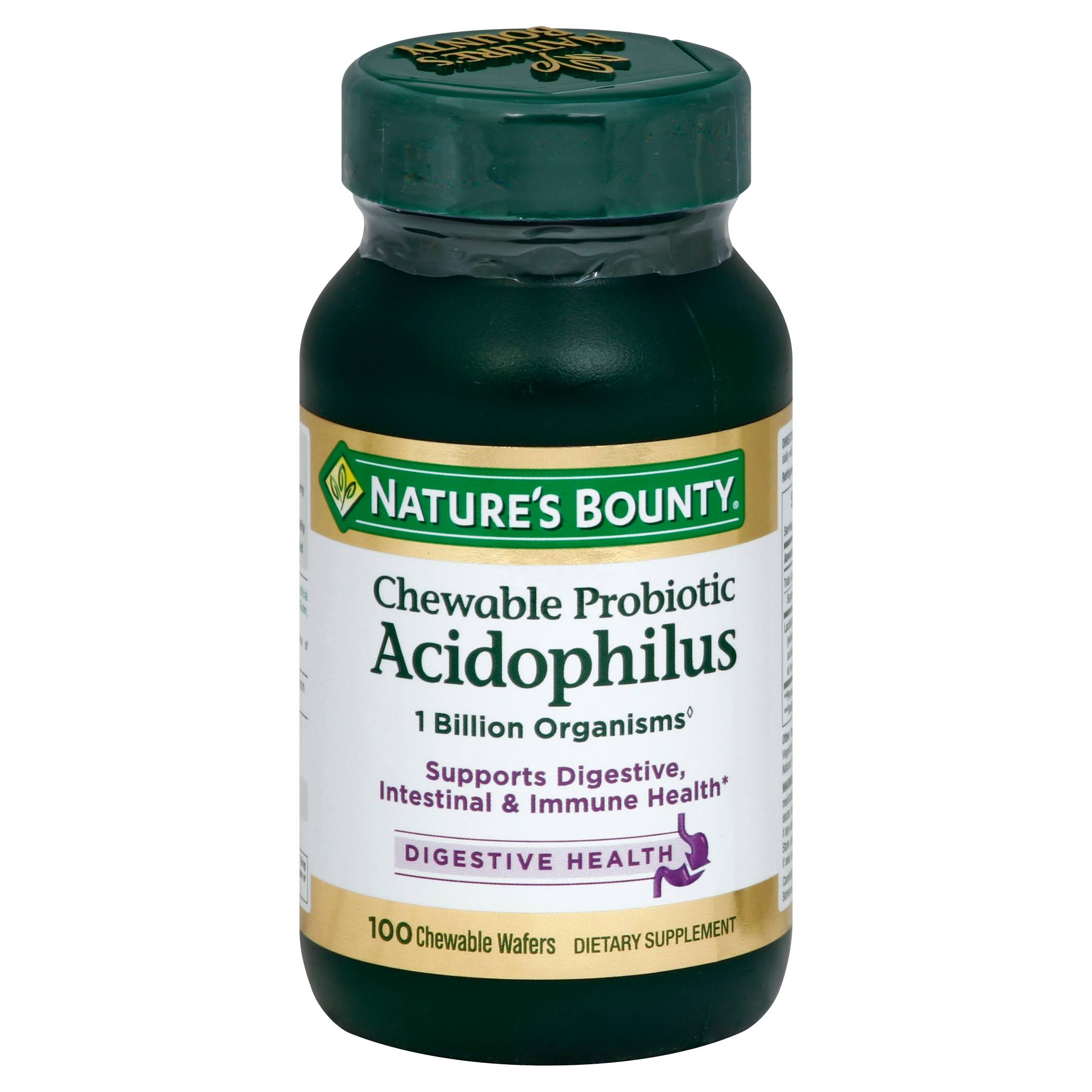 Nature's Bounty Acidophilus - 100 Chewable Wafers