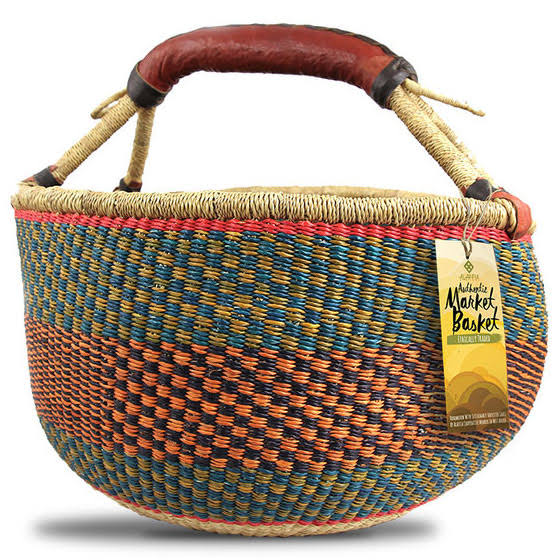 Alaffia Authentic Handwoven African Market Basket - 1 Bag