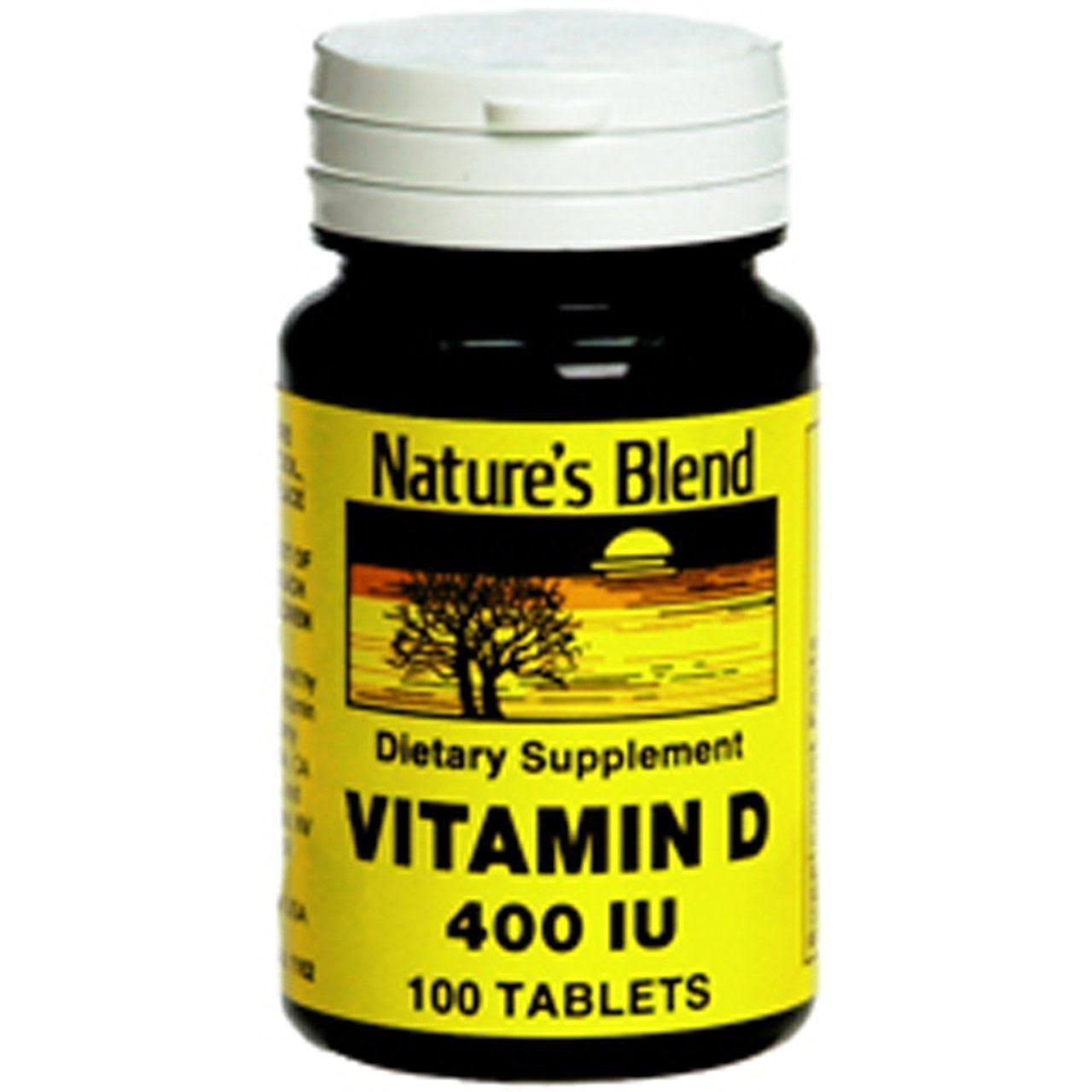 Nature's Blend D3 Vitamin D Dietary Supplement - 400 IU, 100 Tablets