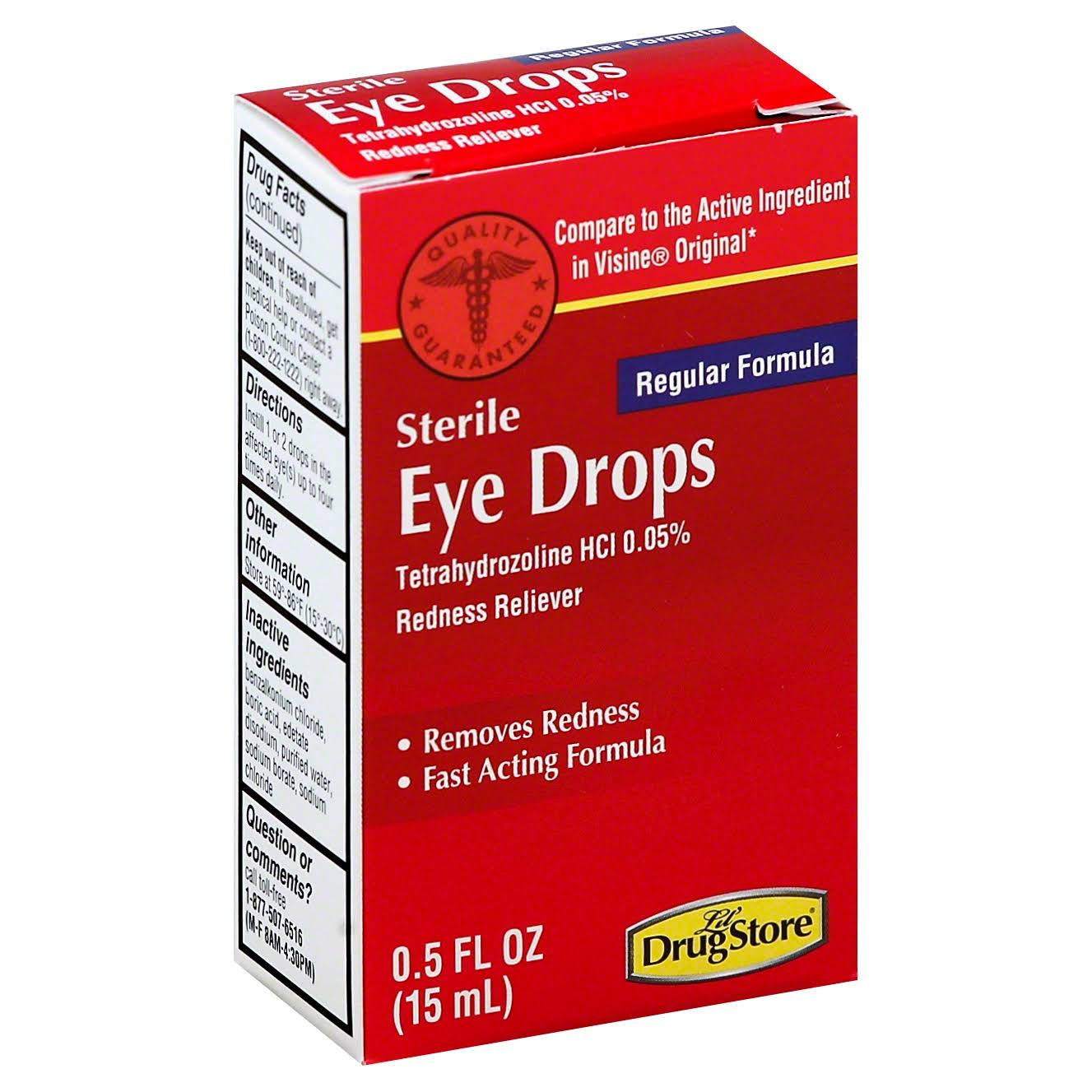 Lil Drug Store Eye Drops, Regular Formula - 0.5 fl oz