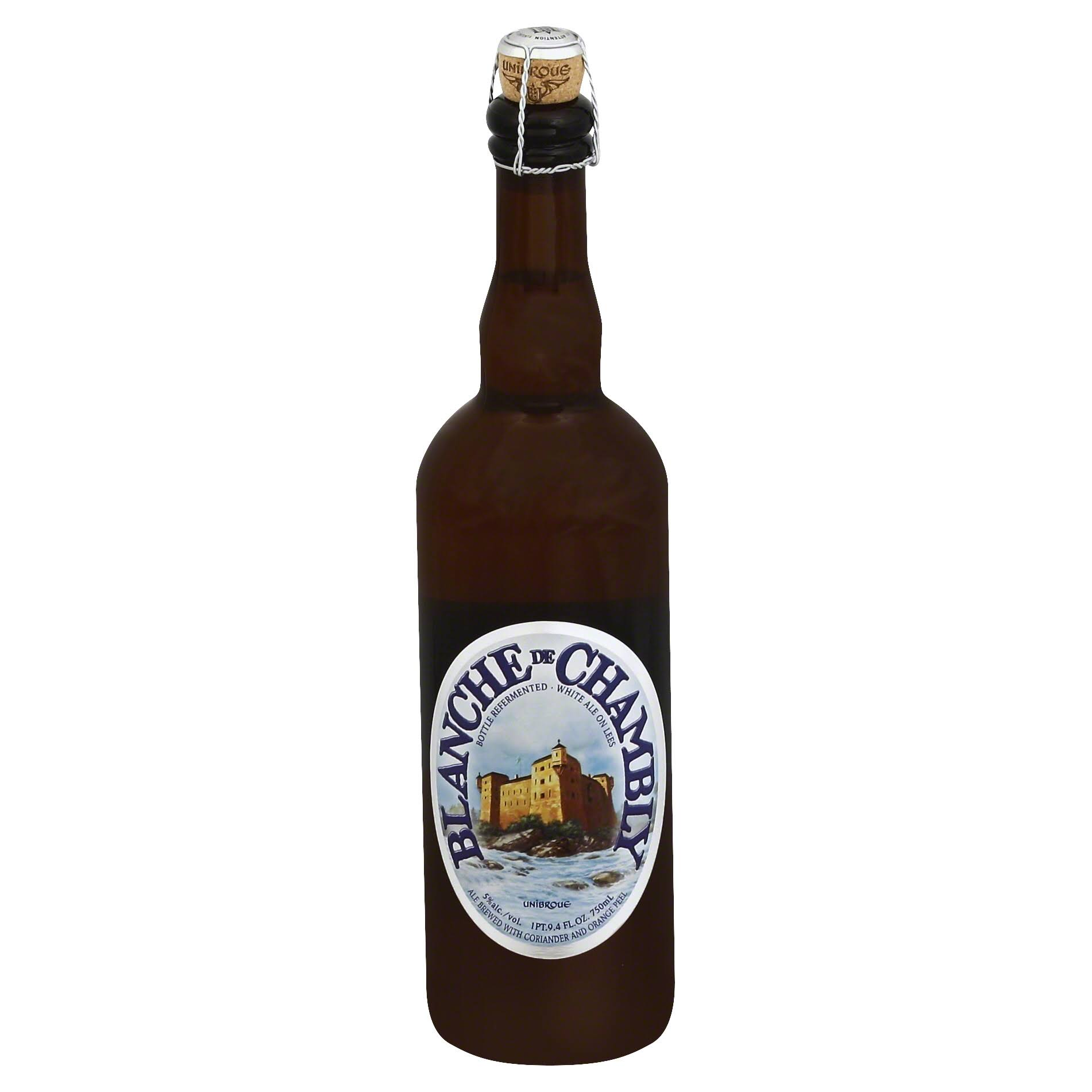 Unibroue Blanche De Chambly Beer - 750ml