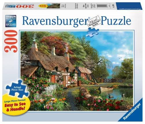 Ravensburger Large Format Puzzle - Cottage on a Lake, 300pcs