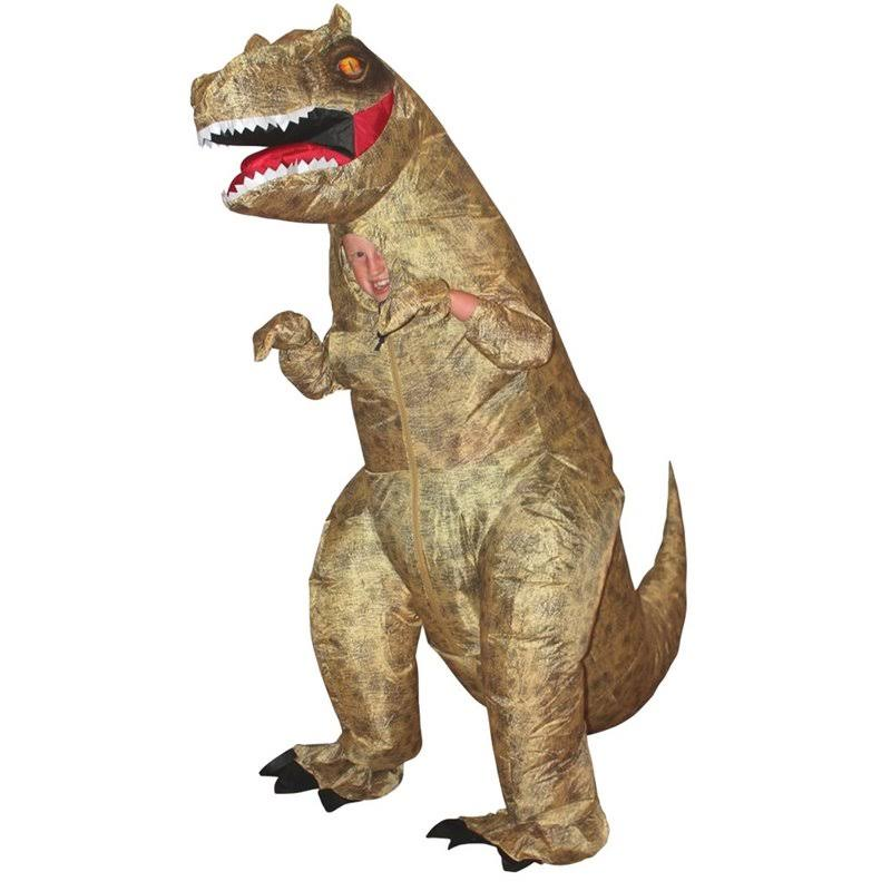 Morphsuits Child Giant T-Rex Inflatable Kids Fancy Dress Costume, Brown, One Size