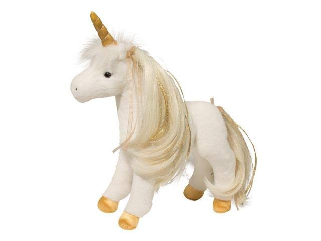 Douglas Golden Princess Unicorn Plush Stuffed Animal - 12""