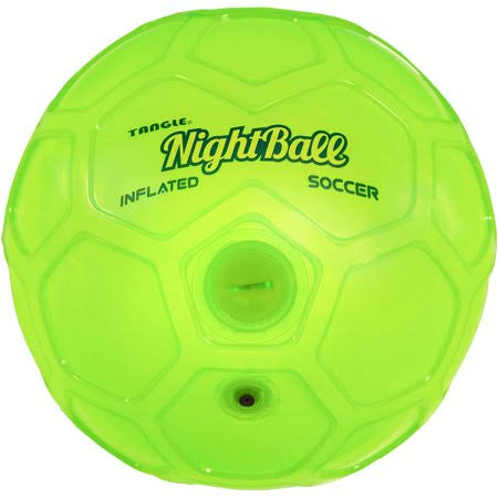 Tangle Night Soccer Ball - Green, Size 5