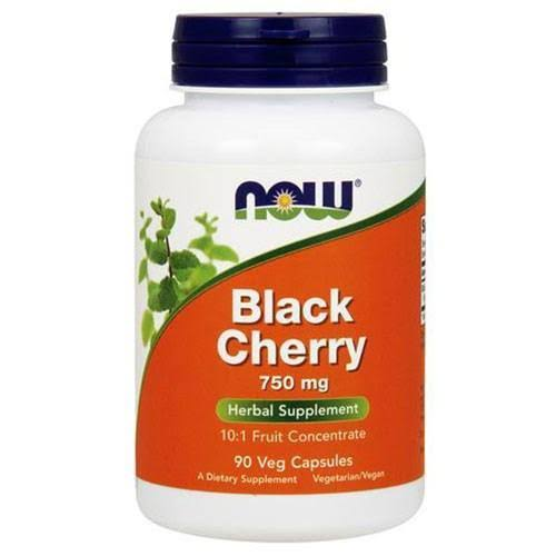 Now Foods Black Cherry Fruit Herbal Supplement - 90 Vcapsules