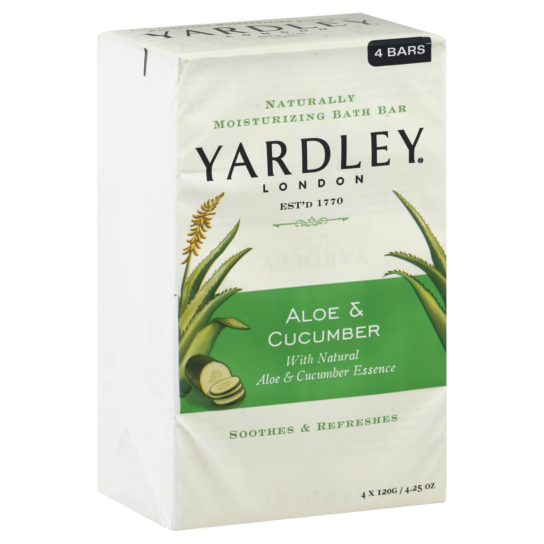 Yardley Of London Moisturizing Soap - Aloe and Avocado, 4 Bars, 480g