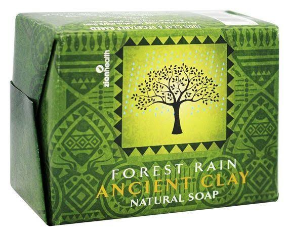 Zion Health Organic Ancient Clay Natural Soap - Forest Rain, 10.5oz
