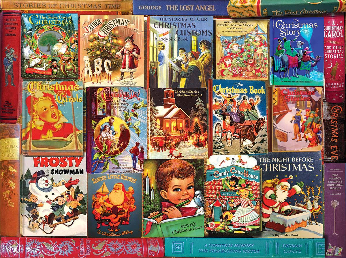 White Mountain Christmas Books Jigsaw Puzzle