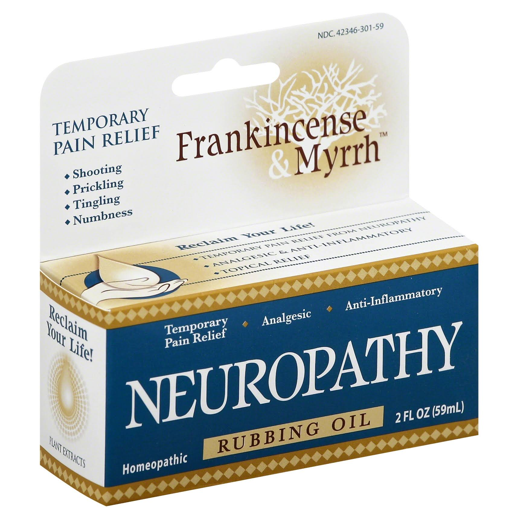 Frankincense & Myrrh Neuropathy Rubbing Oil - 2oz